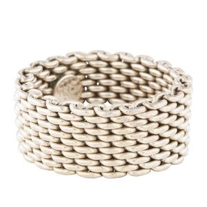 Authentic Tiffany & Co. Mesh Somerset Ring